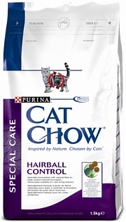 Cat Chow Special Care Hairball Control.